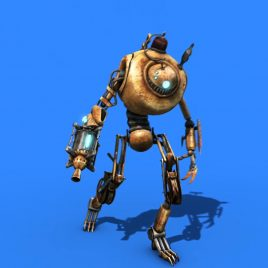 Robot Dance Shoot – 3D Model Animated