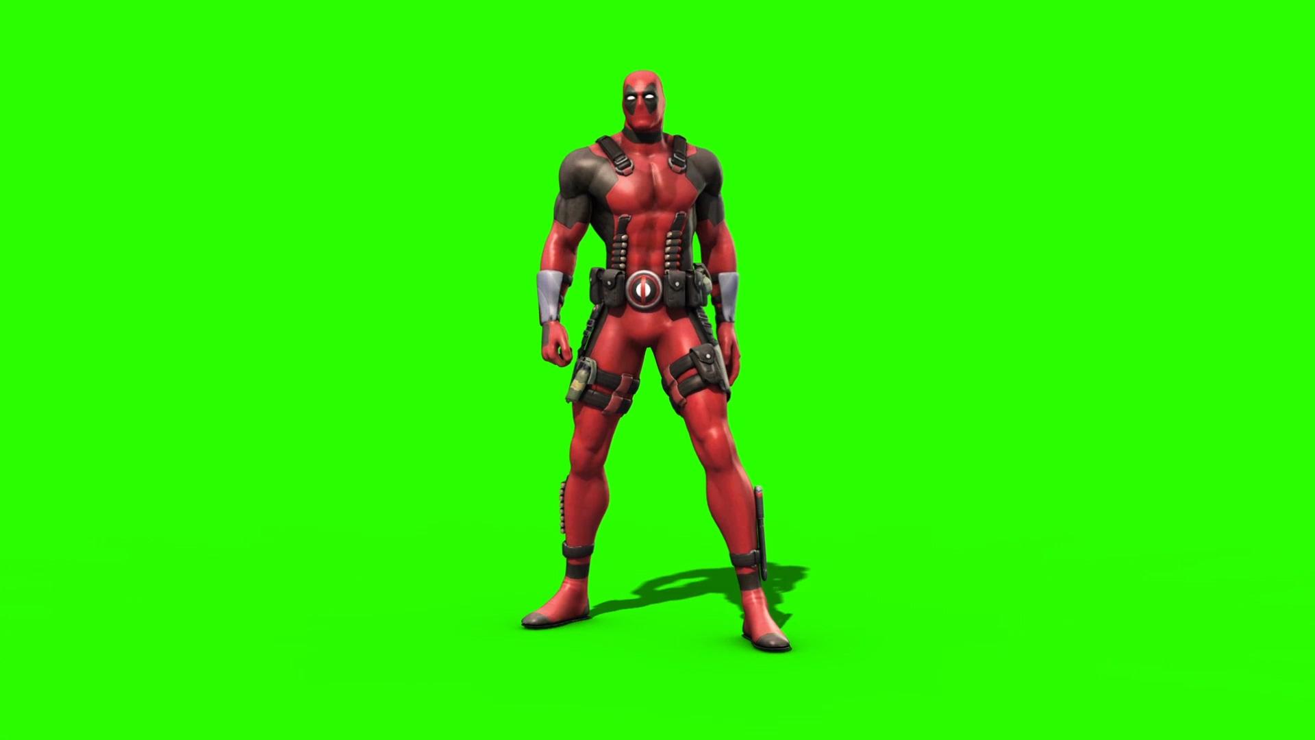 Deadpool 30 Superhéroes: 3D Model Animated
