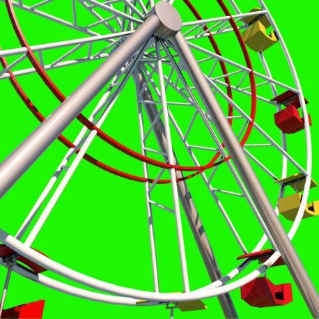 Ferris Wheel Rides Playground Luna Park – PixelBoom