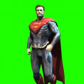 Superman Superhero – 3D Model Animated