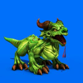 Tiny Dragon Play – 3D Model Animated