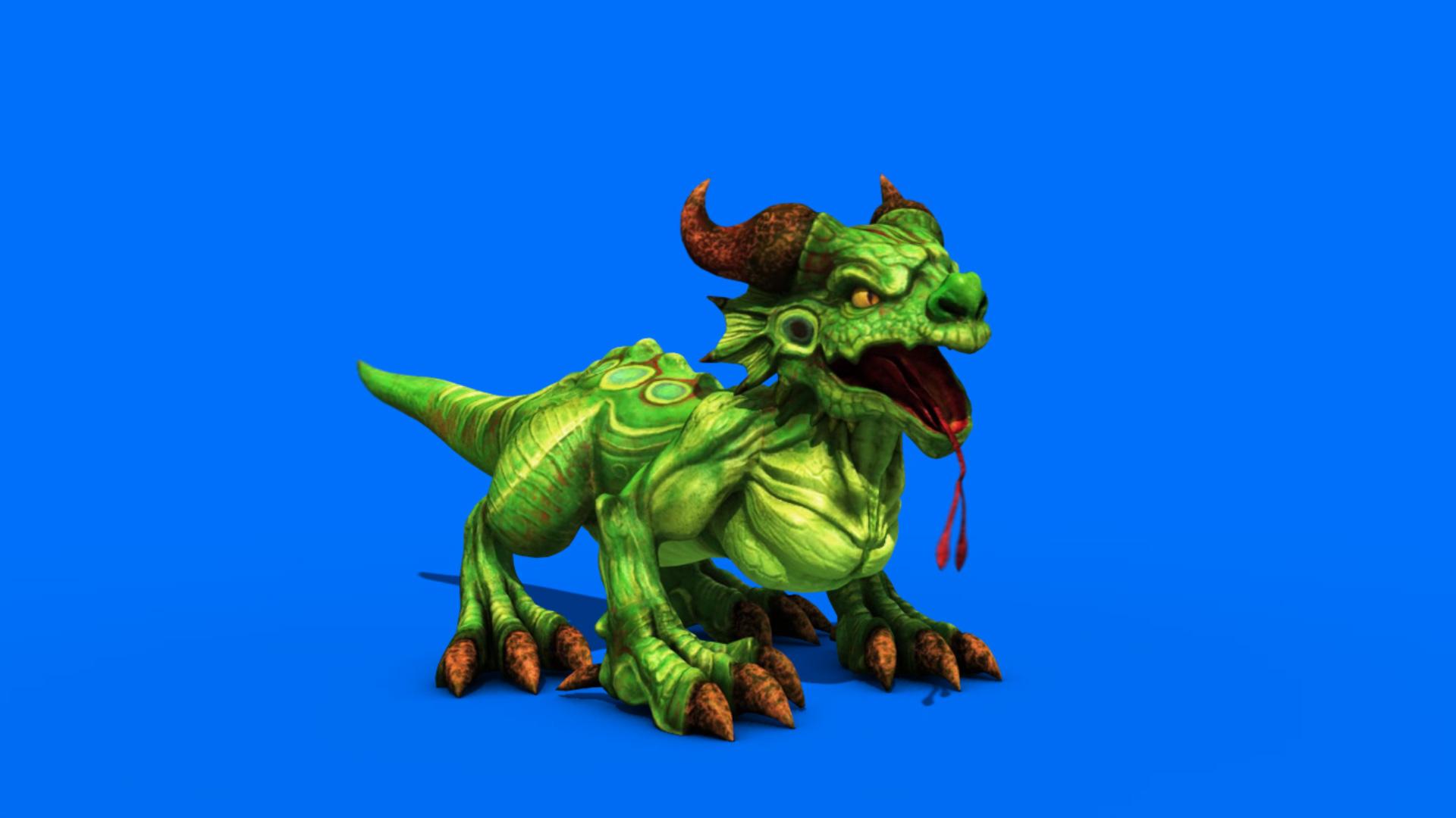 Tiny Dragon Play - 3D Model Animated