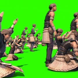 People Pray Gods – 3D Model Animated