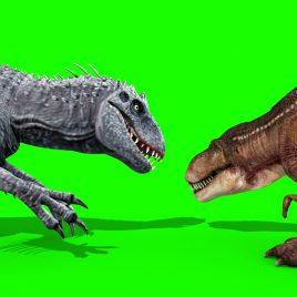 TRex vs IndominusRex – 3D Model Animated