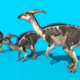 Parasaurolophus – 3D Model Animated