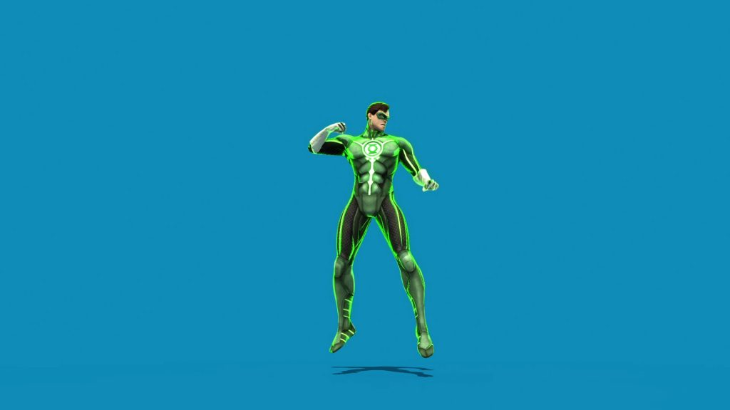 Green Lantern – 3D Model Animated