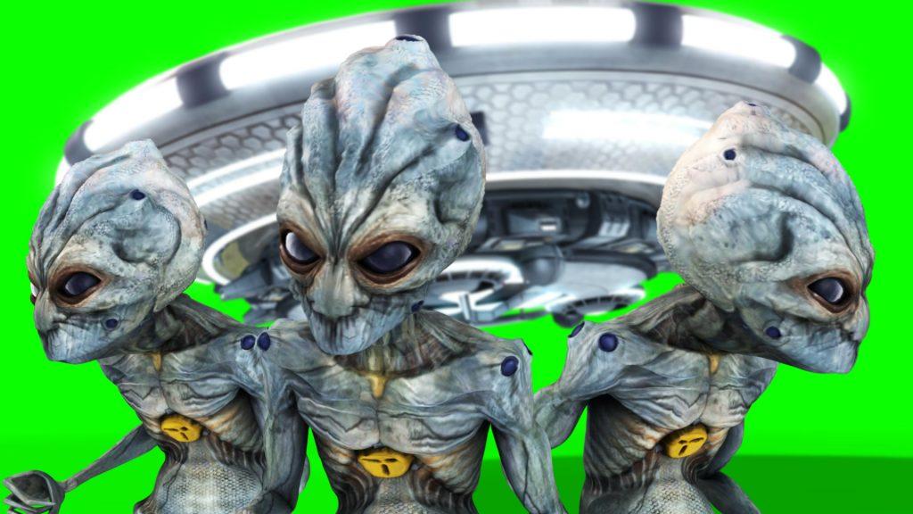 UFO Alien Spaceship – 3D Model Animated