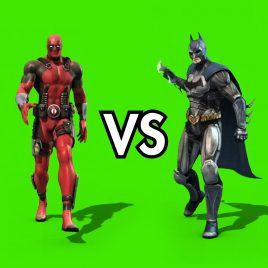 Deadpool VS Batman – 3D Model Animated