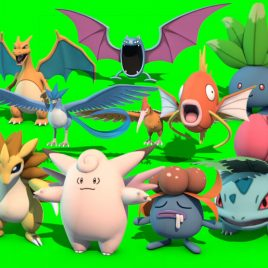 10 Pokemon 1st Gen. – 3D Model Animated