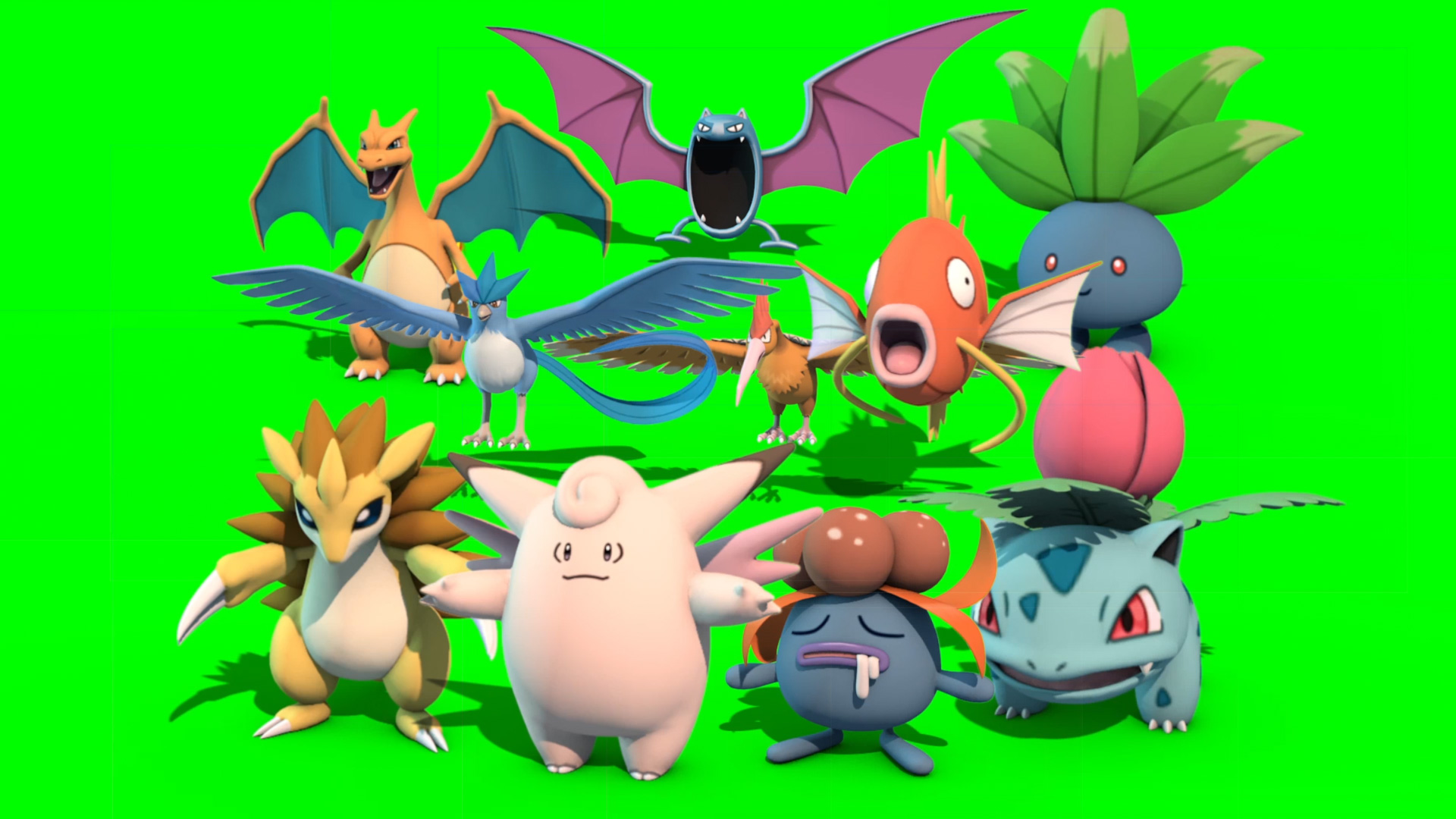 10 Pokemon 1st Gen 3d Model Animated Pixelboom