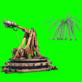 Catapult Wall Debris – 3D Model Animated