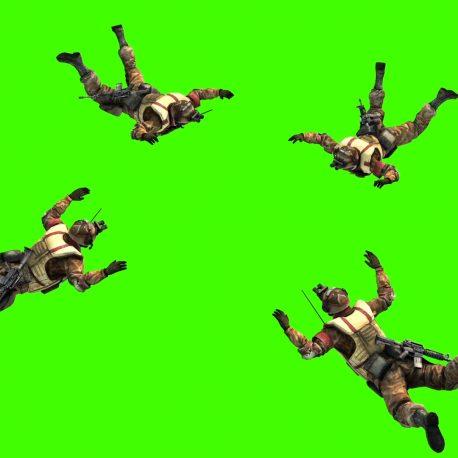Military Parachutist open Parachute – PixelBoom