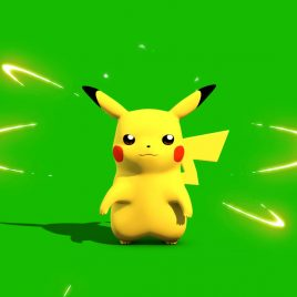 Pokemon Go Pikachu – 3D Model Animated