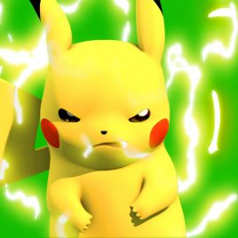 Pokemon Pikachu Facial – 3D Model Animated