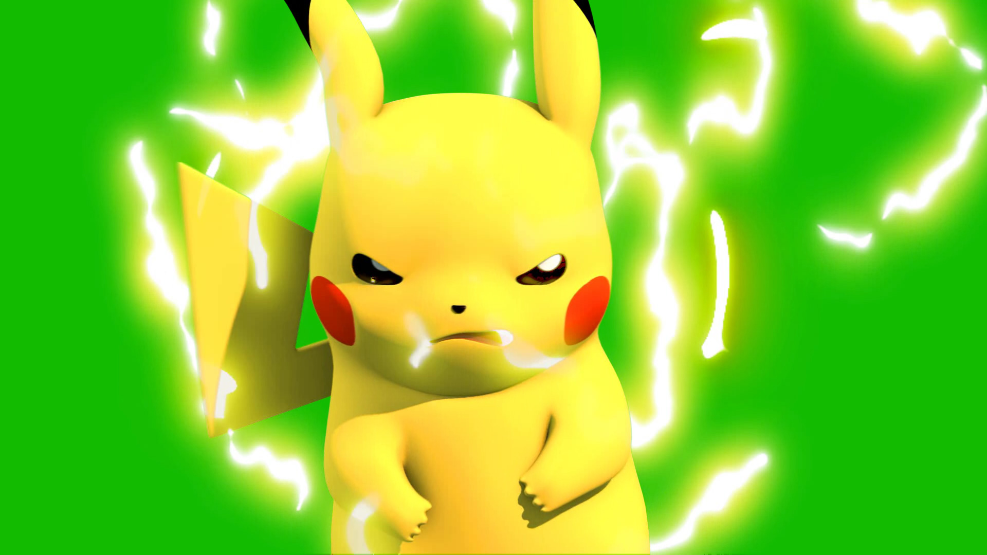 Pokemon Pikachu Facial 3d Model Animated