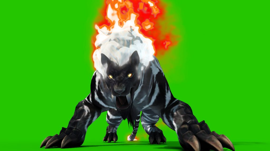 Evil Tiger Fiery – 3D Model Animated