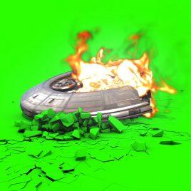 UFO Crash Fire Smoke – 3D Model Animated