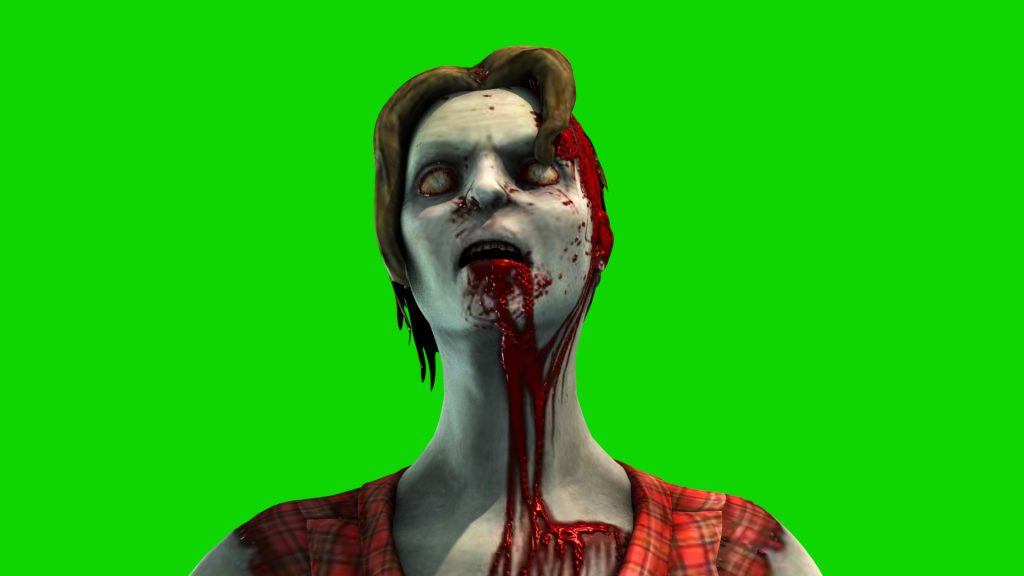 Zombie Woman Attack – 3D Model Animated