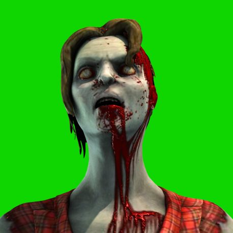 Zombie Woman Enraged Attack Blood PixelBoom