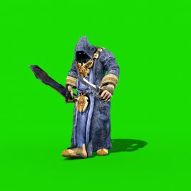 Evil Monk Attack – 3D Model Animated