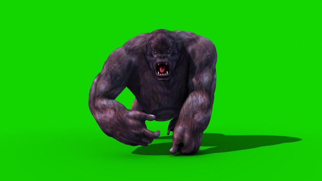 Gorilla Walk Attack – 3D Model Animated