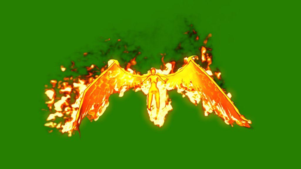 Demon Woman Wings – 3D Model Animated