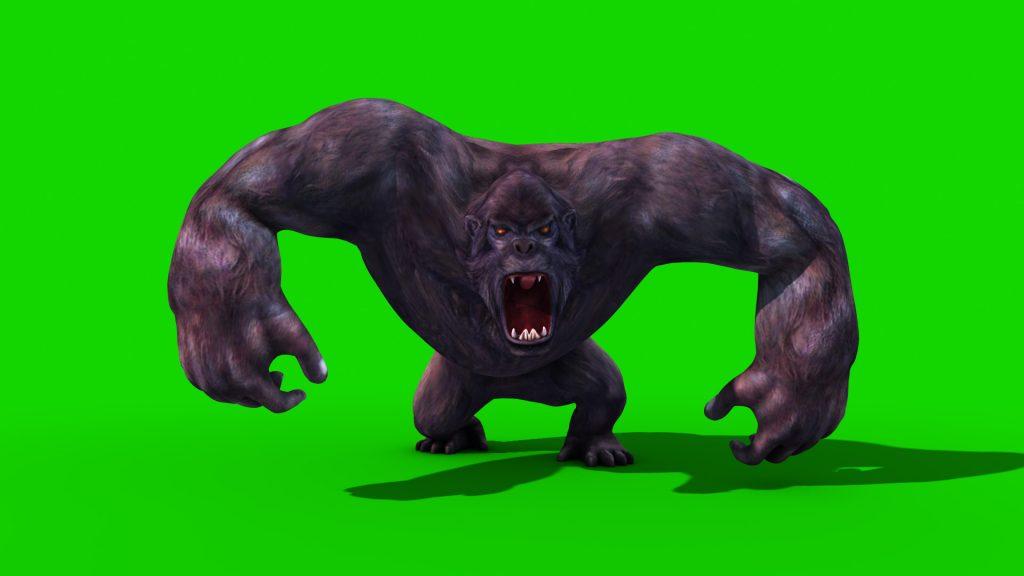 Gorilla Run Dead – 3D Model Animated