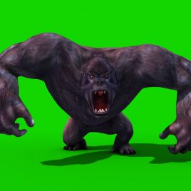 Gorilla Run Dead – 3D Model Animated