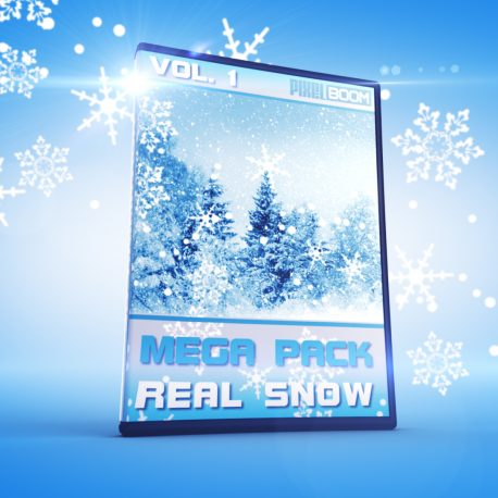 Real Snowflakes Falling Alpha Matte