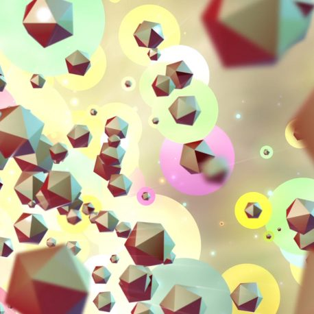 Colorful Element 3D Particles Animated Background PixelBoom