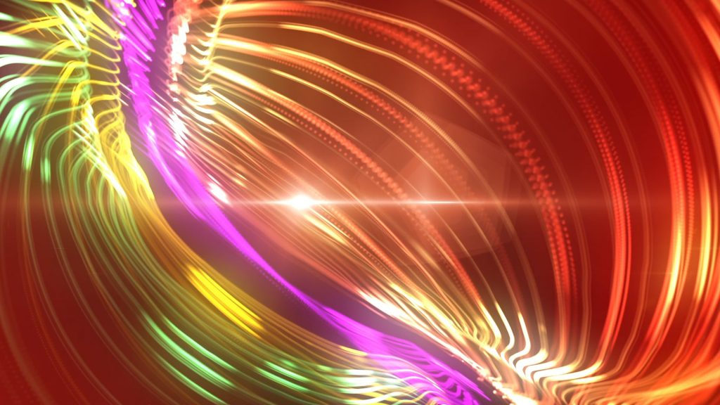 Particles Light Loop – 3D Model Animated