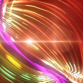 Colorful Particle Circular Show Loop Ipnotic PixelBoom