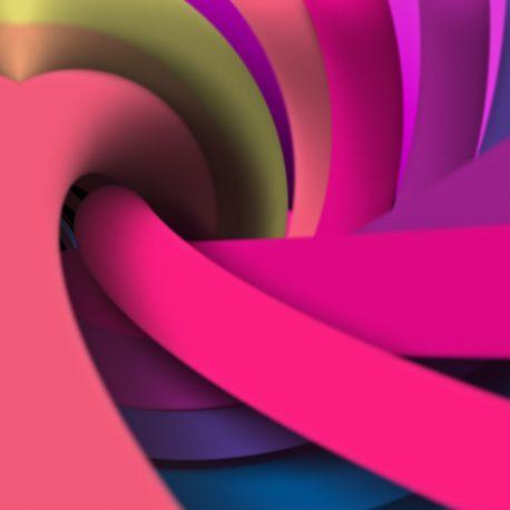 Colorful Ropes Circular Loop Motion Background PixelBoom