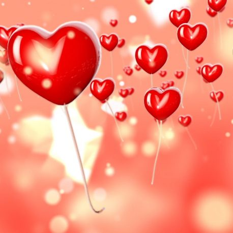Valentine's Day 3D Hearts Loop Animated Background PixelBoom