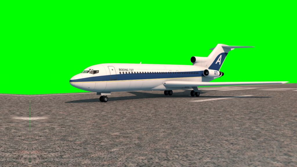 Boeing 727 Takes Off – 3D Model Animated