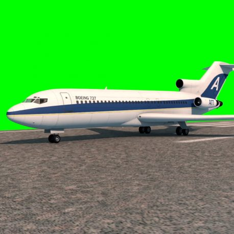 Airplane Boeing 727 Takes Off PixelBoom