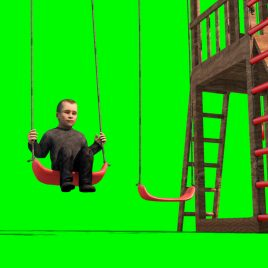 Child on Swing Playground PixelBoom