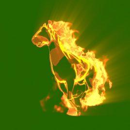 Fire Horse Runs PixelBoom