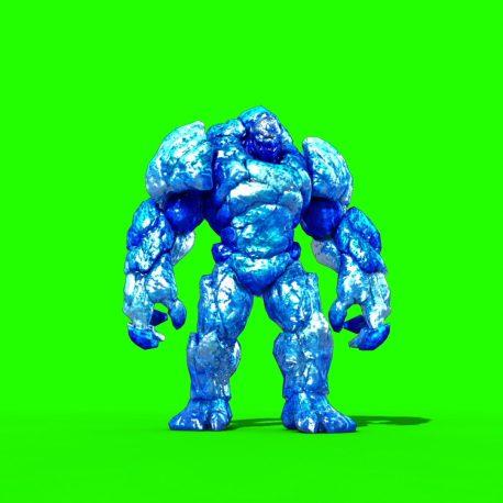 Ice Monster Walk Attack PixelBoom