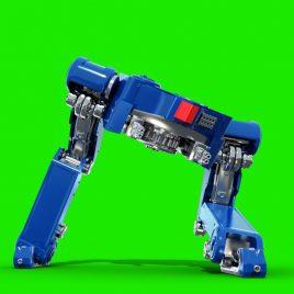 Miniatura Giant Mech Robot Shoots PixelBoom