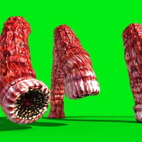 Monstrous Alien Worms Attack PixelBoom