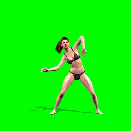 Girl in lingerie Dances PixelBoom