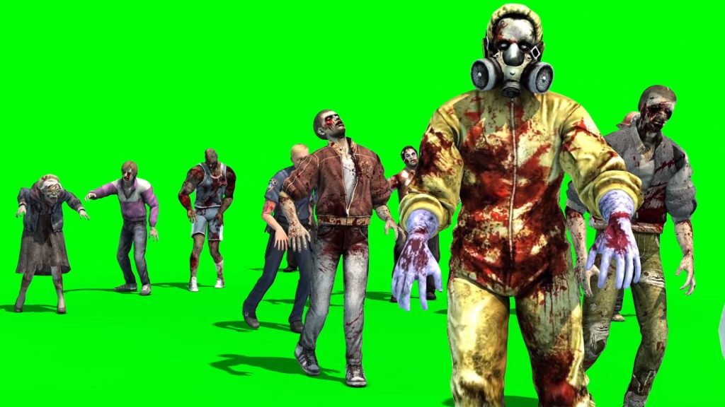 Group Zombies Walks – 3D Model Animated