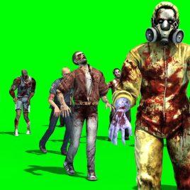Group of Zombies Walks PixelBoom