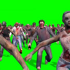 Invasion Zombies Horde Runs PixelBoom