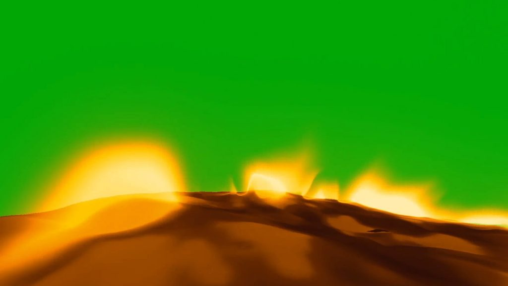 Flaming Ground – 3D Model Animated