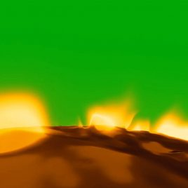 Running on a Flaming Ground PixelBoom