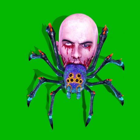Spider Zombie Walks Attacks Dies Horror PixelBoom