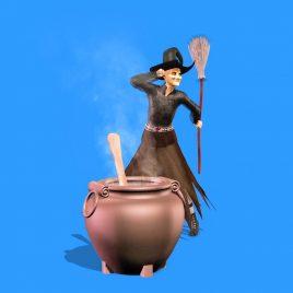 Witch Dances Cauldron Halloween PixelBoom