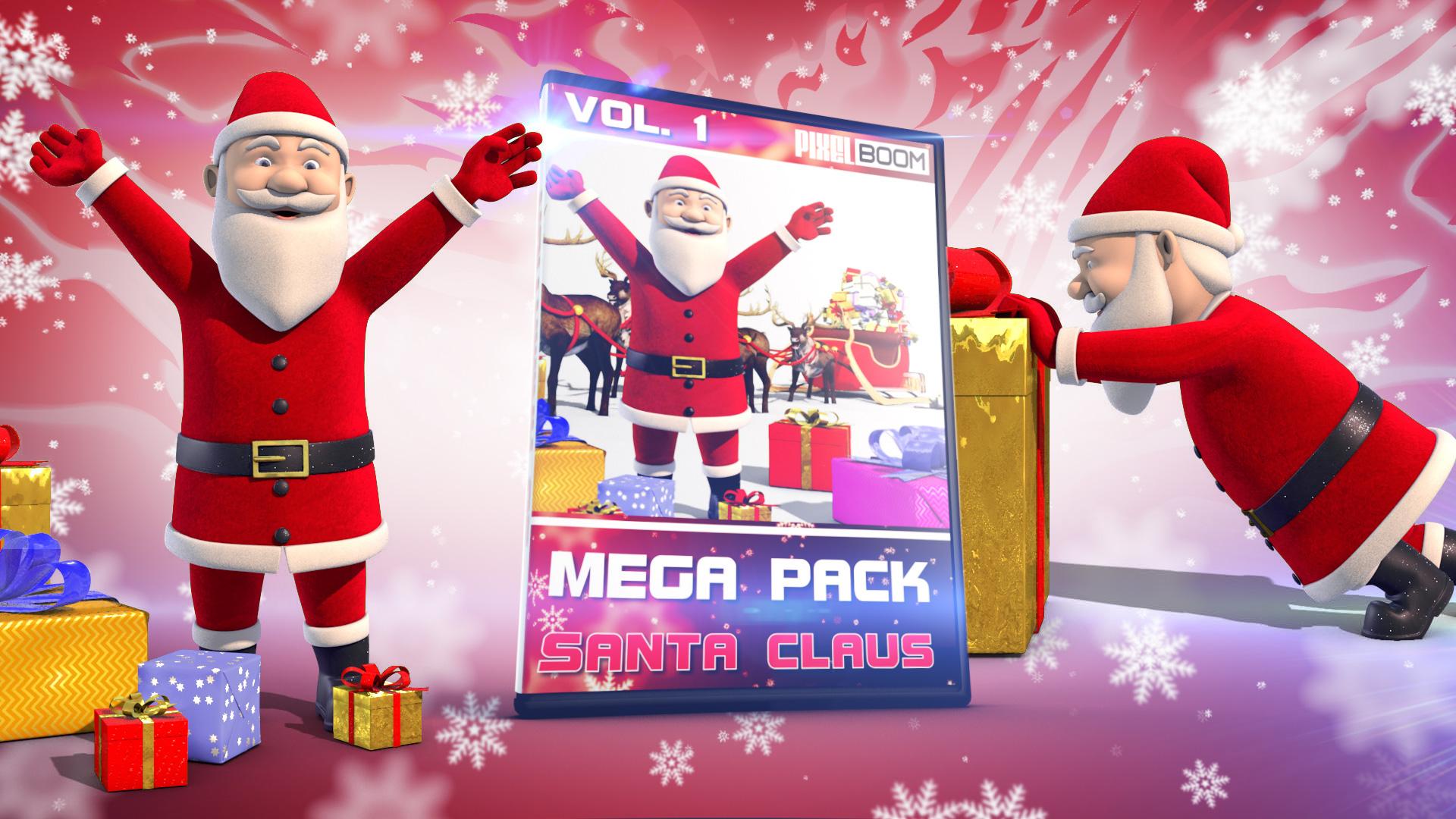 Copertina Mega Pack Santa Claus PixelBoom